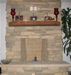 Eldorado Stone fireplace - Click here for larger view