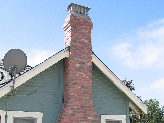 Custom Masonry Brick Chimney