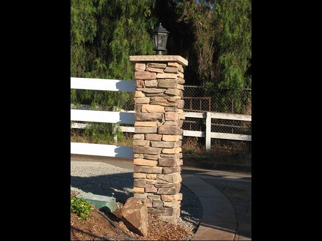 San Diego Masonry Columns And Piers Custom Masonry And Fireplace Design Of San Diego