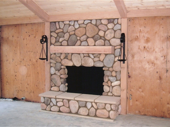Stone Fireplace Photos - Stone Fireplace Design and Construction San Diego County. Natural Stone and Manufactured Stone Fireplaces.