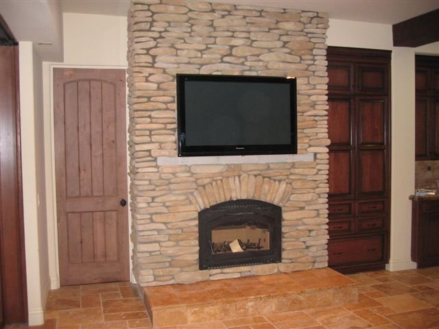 San Diego stone fireplace photos page 2- Stone Fireplace Design and Construction San Diego County. Natural Stone and Manufactured Stone Fireplaces.