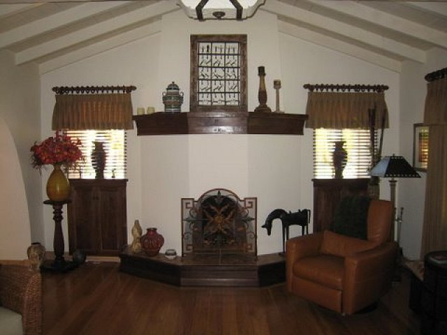 Stucco and Plaster Fireplace Photos in San Diego - Custom Masonry ...