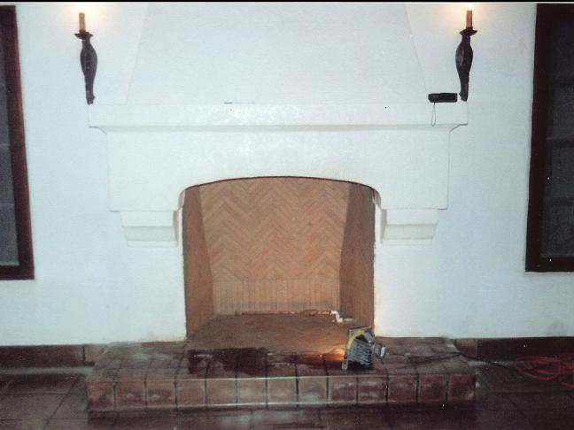 Stucco Fireplace 2
