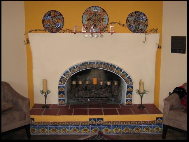 Stucco and Plaster Fireplace Photos in San Diego - Custom Masonry ...