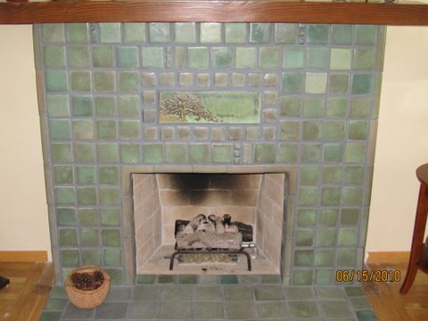 Batchelder Tile Face Fireplace And Hearth