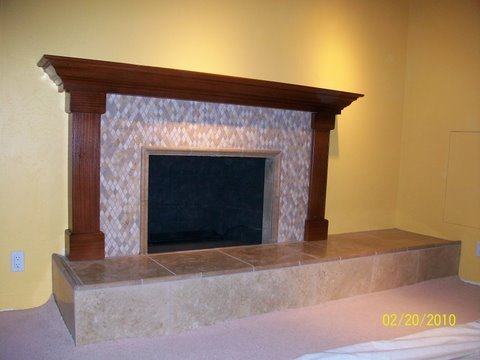 fireplace raised hearth. Mosaic Tile Face Fireplace with travertine tiled raised hearth  custom wood mantel and surround Photos in San Diego Page 2 Custom Masonry