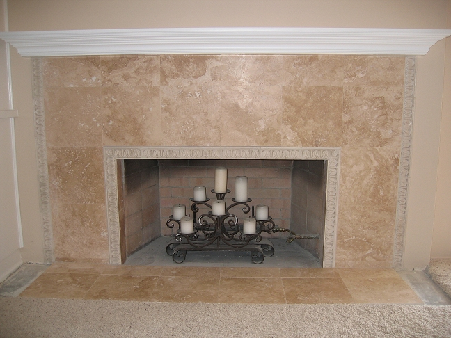 San Diego Tile Fireplace Photos - Custom Masonry and Fireplace ...