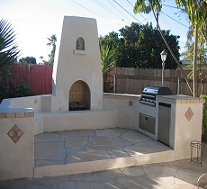 Outdoor Fireplaces and BBQs